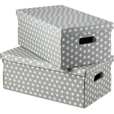 Boîte de rangement - Gris