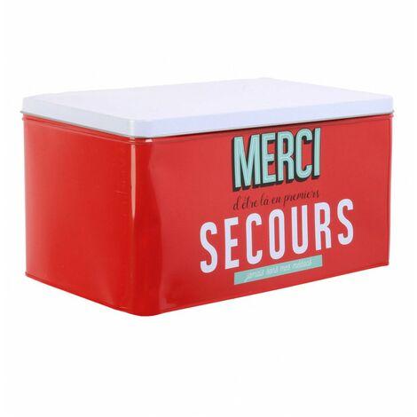 Boîte de rangement - Ma boîte de premier secours - Rouge