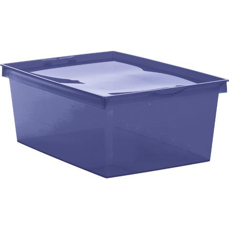 usine authentique bff47 7a1bf Boîte de rangement plastique Crystaline Eda - 18 l - Bleu profond