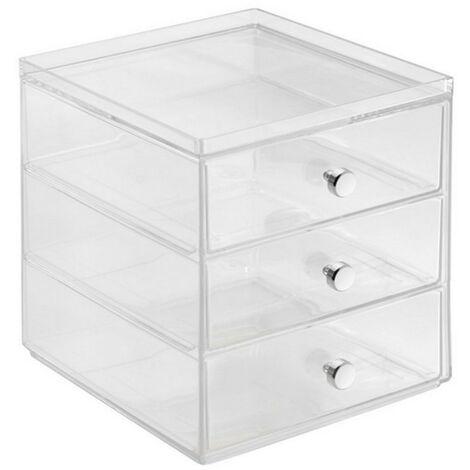 Boite de rangement pour cosmétiques 3 tiroirs - IDesign - Interdesign