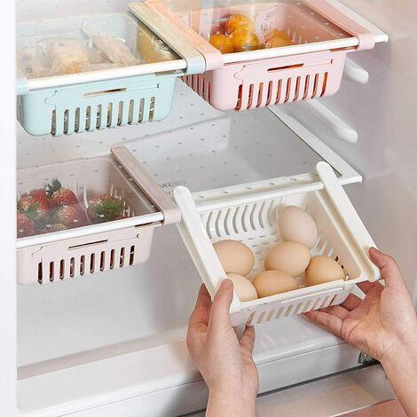 Boîte de rangement pour tiroir de rangement pour réfrigérateur 3 pièces