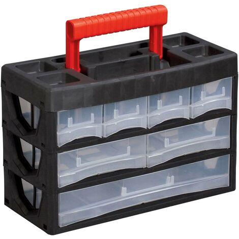 Boîte de rangement VISO 3//11 (L x l x h) 320 x 150 x 210 mm Nombre de compartiments: 11 1 pc(s)