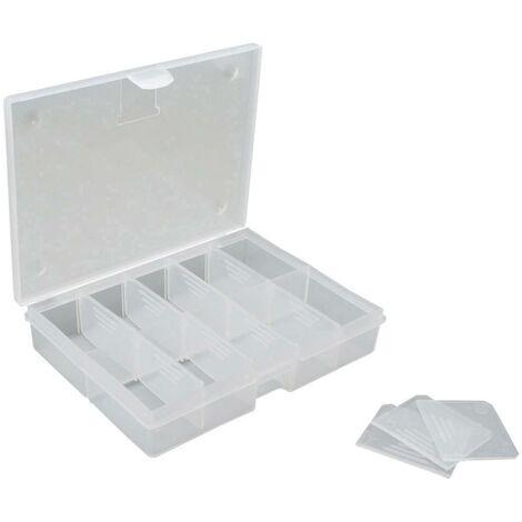 Boîte de rangement VISO O100 (L x l x H) 130 x 100 x 30 mm Nombre de compartiments: 10 1 pc(s) W604441