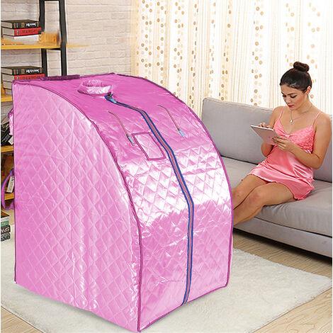 Boîte de sauna portable infrarouge - Spa à Domicile pour une Personne - Idéal pour la Désintoxication et la Perte de Poids