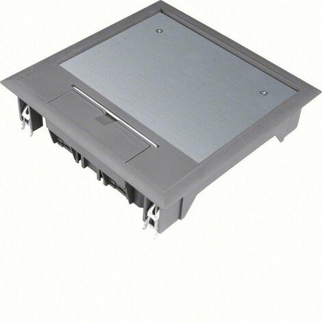 Boîte de sol carrée 12 modules 219x219mm encastrement 200x200mm noire (VQ06057011)