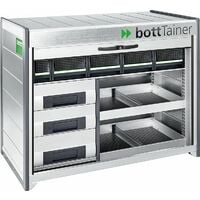 Boite de transport Bott Tainer BTA-R140-4 avec Volet roulant, 3 tiroirs 2 bassines + 5 boites Bott