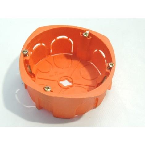 Boite d'encastrement 32A diam 86mm prof 40mm orange grande taille SIB ADR P18640