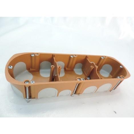 Boite d'encastrement triple BBC Ø 68mm 3 postes entraxe 71mm prof 40mm Hor/Vert écologique norme R2012 SIB ADR P33971