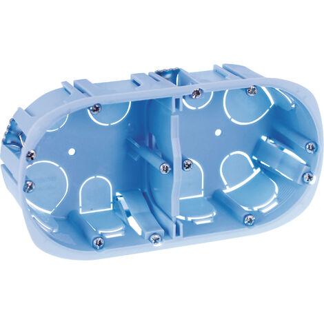 Boîte d'Encastrement XL PRO 52044 EUR'OHM 2 Postes Cloisons Sèches 67x40