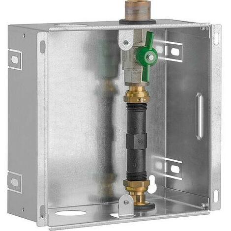 """Boite encastrable compteur d'eau DN20(3/4""""), 1x robinet spherique adapteur 110mm, sans couvercle"""