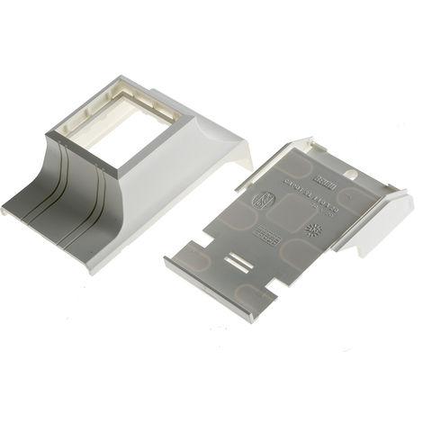 Boîte encastrable de moulure pour câbles RS PRO PVC Boîte de prise à fiche femelle simple pour plinthe de 45 mm