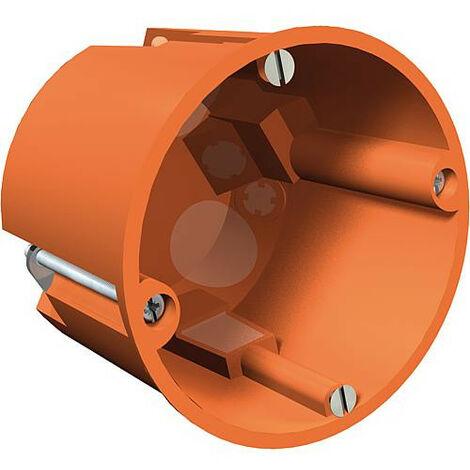 Boite encastrement profonde mur creux, hauteur 61 mm, diam. 68 mm, type HV 60 MV, orange, 1 piece *BG*