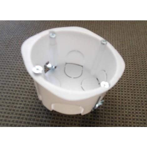 Boite encastrement ronde Ø 65mm prof 40mm blanche vis/griffes AE50139