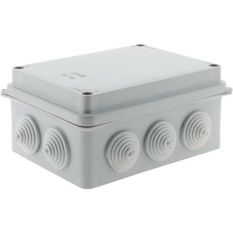 Boîte étanche rectangulaire à visser 1/4 de tour IP54 - 150x110x70, 175x110x83 ou 220x170x105mm