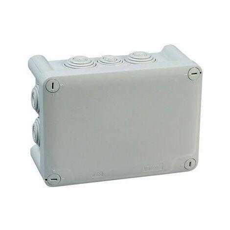 Boîte grise rectangulaire - Couvercle vis 1/4 de tour - Plexo - Legrand