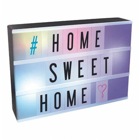 Boîte lumineuse à message personnalisable A4 - 85 caractères - Multicolore - Livraison gratuite