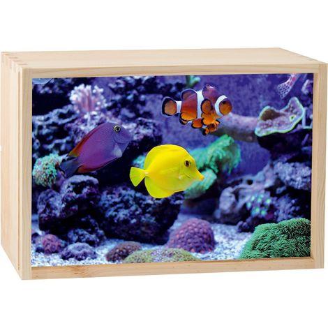 Boite lumineuse LED 30x20 cm Aquarium