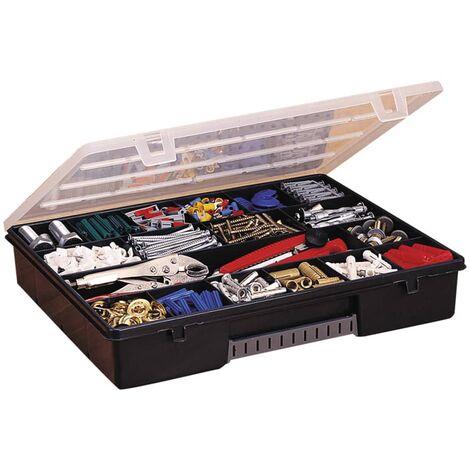 Boite Organiseur 18 compartiments Stanley 1-92-071 Coffret ABS range outils 36,5 x 6,4 x 28,1 cm
