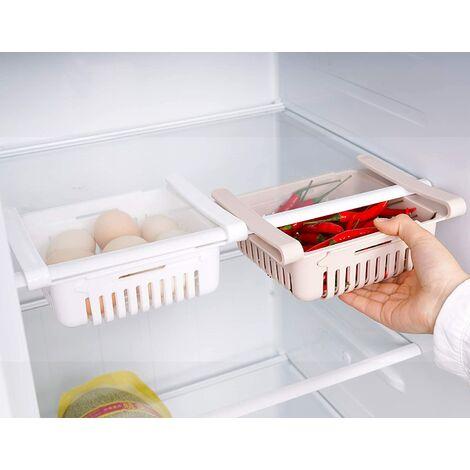 Boite Rangement Frigo Réfrigérateur Escamotable avec Tiroir Organisateur Boîte de Rangement pour Réfrigérateur Garder Le Réfrigérateur (2 Pack)