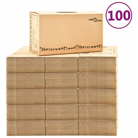 Boîtes de déménagement Carton XXL 100 pcs 60x33x34 cm