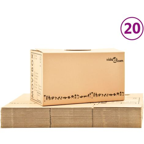 Boîtes de déménagement Carton XXL 20 pcs 60x33x34 cm