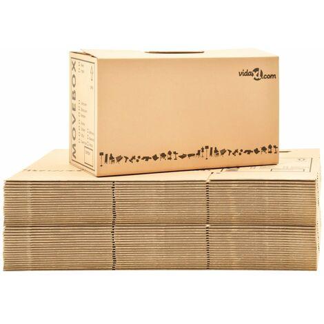 Boîtes de déménagement Carton XXL 40 pcs 60x33x34 cm