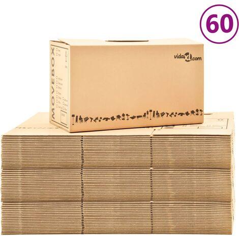 Boîtes de déménagement Carton XXL 60 pcs 60x33x34 cm