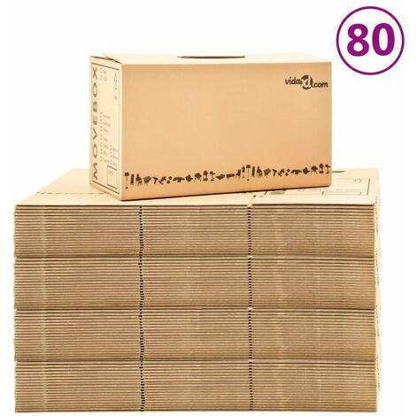 Boîtes de déménagement Carton XXL 80 pcs 60x33x34 cm
