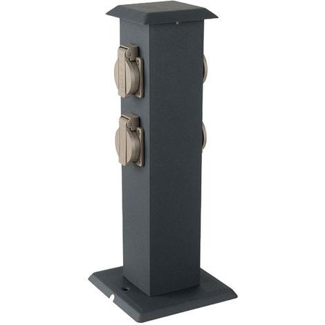 """main image of """"Boîtes de prises extérieures distributeur d'énergie de jardin colonne d'alimentation électrique gris acier inoxydable V-Tac 8821"""""""