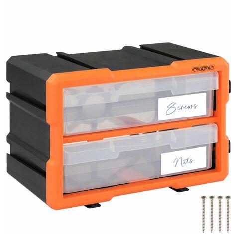Boîtes de rangement compartiments 29,5x19,5 x16cm tiroirs caisse taille au choix 72 Fächer Komplettset (de)