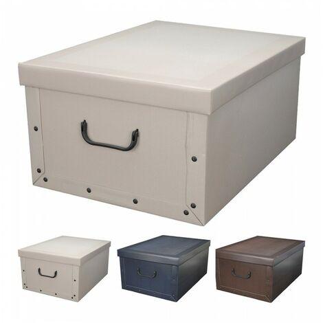 Boîtes de rangement en carton 3 modèles assortis