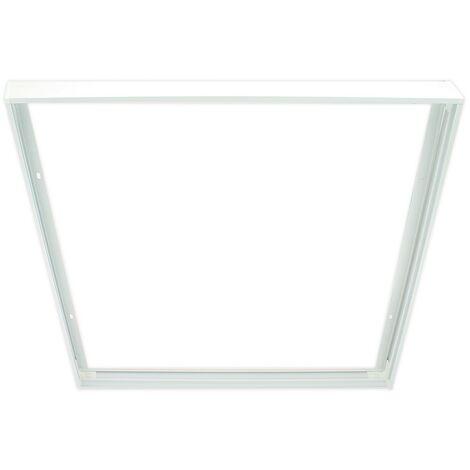 Boitier-cadre, grille et fixation pour dalle lumineuse