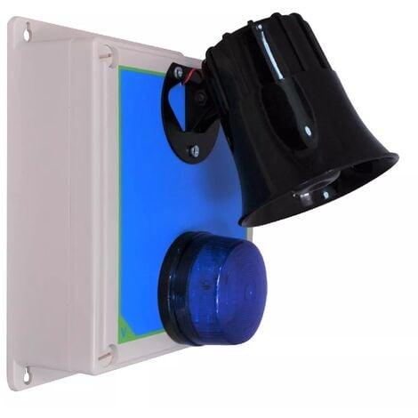 Boîtier d'alerte supplémentaire étanche longue distance sans-fil - récepteur / flash / sirène multi-ton (PROTECT 800)