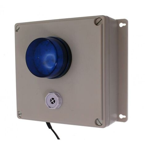 Boîtier d'alerte supplémentaire étanche longue distance sans-fil - récepteur / flash / sirène réglable (PROTECT 800)
