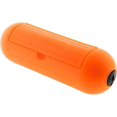 Boîtier de protection pour prolongateur jardin IP54 - Orange - Zenitech