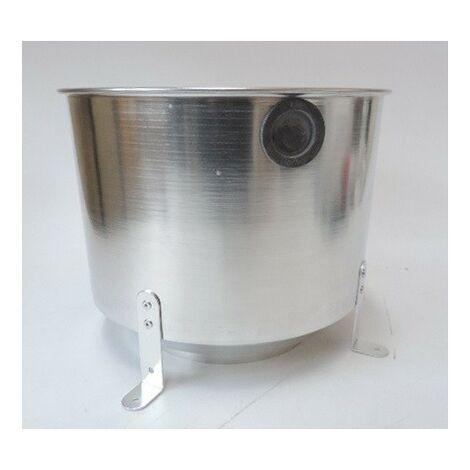 Boîtier d'encastrement aluminium Ø 280xH220mm pour plafonniers encastrés Ø 160mm BEGA 10442