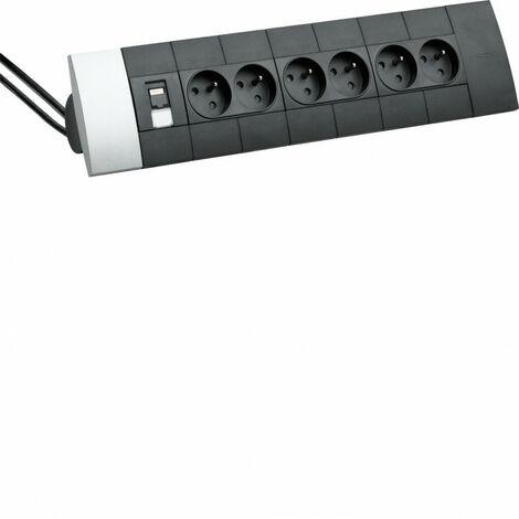 Boîtier design officea pré-équipé 5x2prises RJ45 Cat6 + 2m de câble avec fiches (DED101)