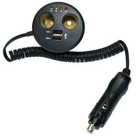 HP 28102 Prise de courant double connecteur adaptateur pour allume-cigare