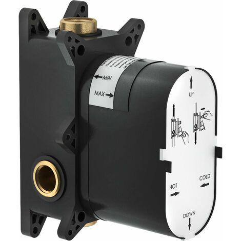 Boîtier encastrable pour douche encastrée avec déviateur Nobili WE81100 | partie intégrée