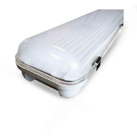 Boitier étanche IP65 LED intégrées 80W (680W) Blanc jour 4000°K Translucide