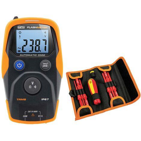 """Boîtier étanche ; multimètre TRMS """"Flashmeter"""" résistant aux chocs, ave set d'outils 7 pièces """"Aladino"""" X794101"""