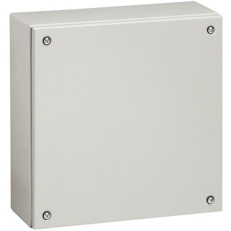 Boîtier industriel Atlantic métal carré - IP66-IK10 - 300x300x120mm - RAL 7035