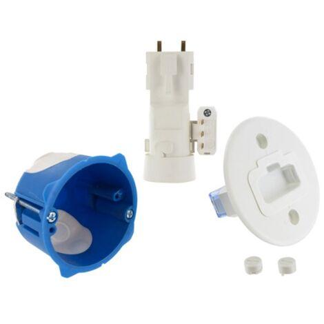 Boite applique DCL multi-mat/ériaux RT2012 D.67 P.40 Fiche douille E27