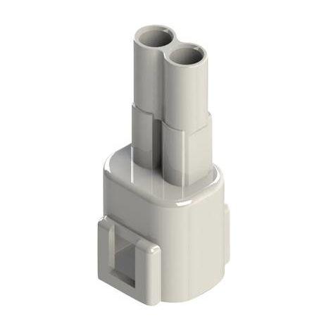 Boîtier pour contacts mâles série 572 EDAC 572-002-000-100 Nbr total de pôles 2 Dimension grille: 5.08 mm 1 pc(s)
