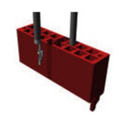 Boîtier pour contacts mâles série Micro-MaTch TE Connectivity Micro-MaTch 2-338095-0 Nbr total de pôles 20 Dimension grille: 1.27 mm 1 pc(s)