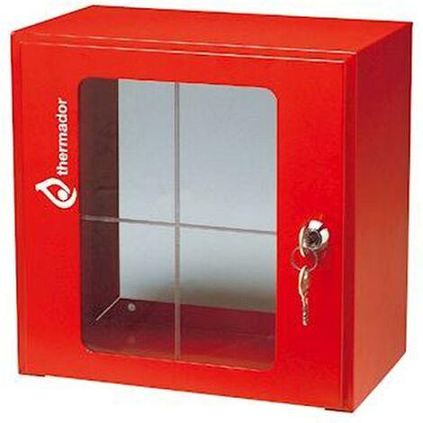 Boitier sous verre dormant - Dimensions : 300 x 300 x 200