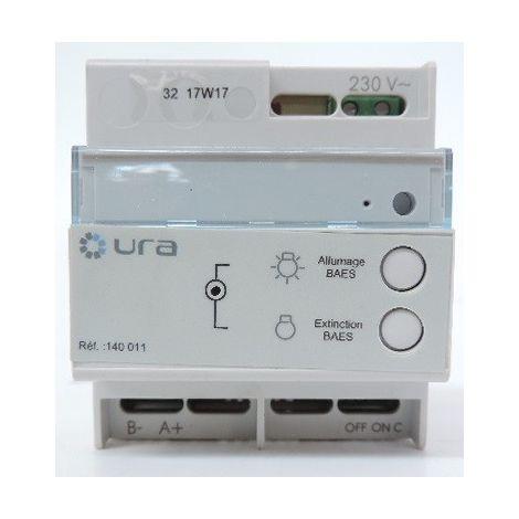 Boîtier télécommande modulaire pour blocs autonomes d'éclairage de sécurité (BAES) 600 blocs max 230V 4M SATI URA 140011