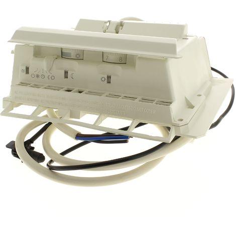 Boitier thermostat 2 molettes + curseur pour Radiateur Thermor, Radiateur Sauter, Radiateur Atlantic