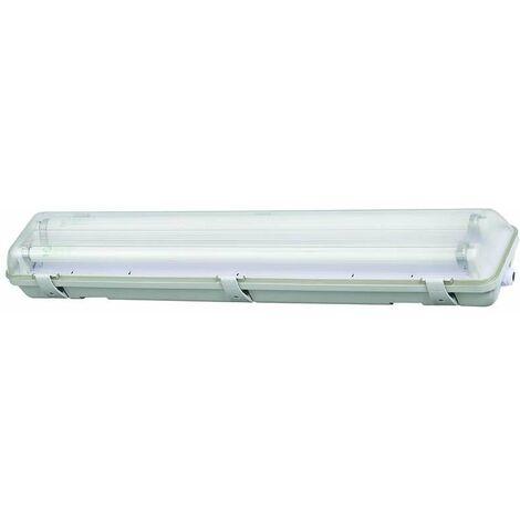 Boitier tube LED T8 étanche 2x600mm