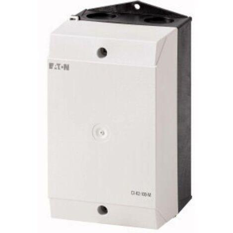 Boîtier vide Eaton 206893 pour plaques de montage (L x l x h) 100 x 100 x 160 mm gris clair (RAL 7035), noir (RAL 9005) 1 pc(s)
